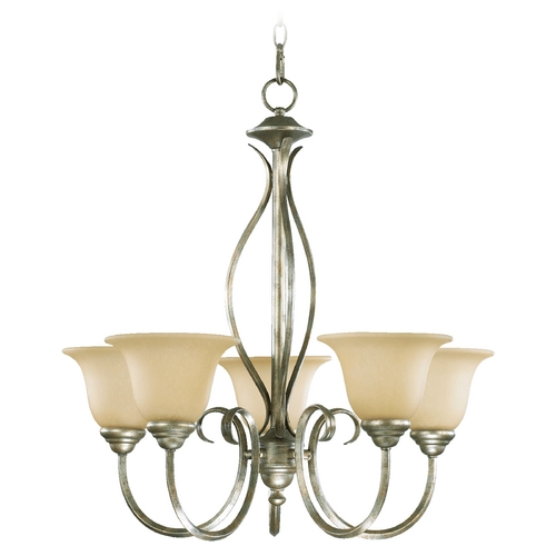 Quorum Lighting Quorum Lighting Spencer Mystic Silver Chandelier 6010-5-58