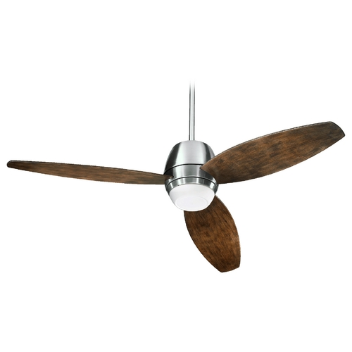 Quorum Lighting Quorum Lighting Bronx Patio Satin Nickel Outdoor Ceiling Fan w/Light 142523-65