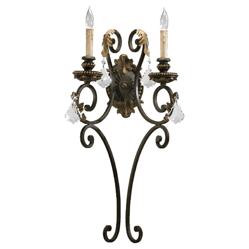 Quorum Lighting Quorum Lighting Rio Salado Toasted Sienna with Mystic Silver Sconce 5357-2-44