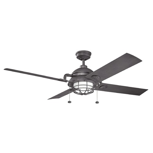 Kichler Lighting Kichler Lighting Maor LED Ceiling Fan with Light 310136DBK