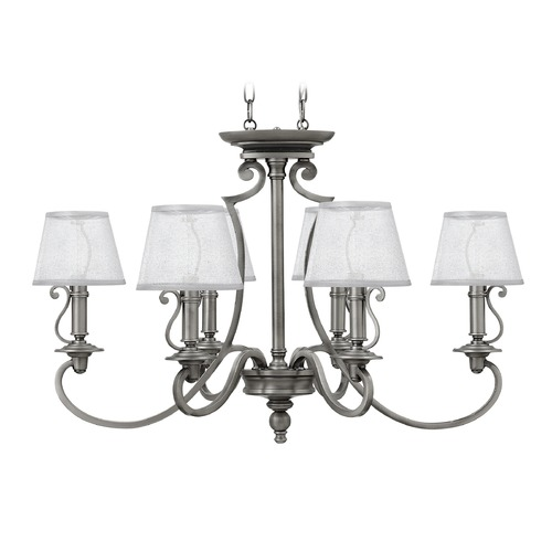 Hinkley Lighting Hinkley Lighting Plymouth Polished Antique Nickel Chandelier 4245PL