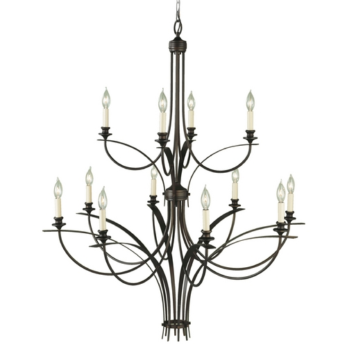 Feiss Lighting Modern Chandelier in Oil Rubbed Bronze Finish F1891/8+4ORB