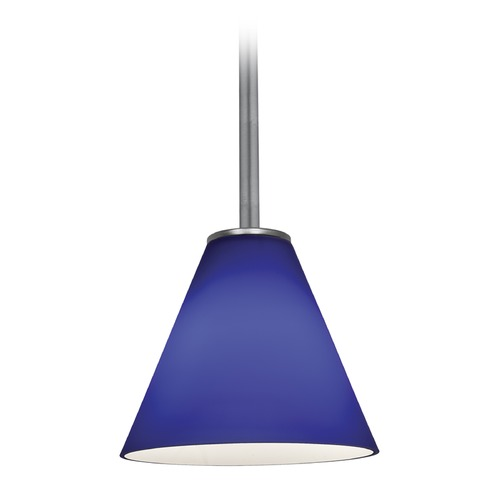 Access Lighting Access Lighting Martini Brushed Steel LED Mini-Pendant Light with Conical Shade 28004-4R-BS/COB