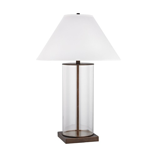 Dimond Lighting Dimond Park Slope Dunbrook and Clear Table Lamp with Conical Shade D3117