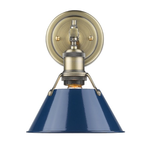 Golden Lighting Golden Lighting Orwell Ab Aged Brass Sconce 3306-BA1 AB-NVY