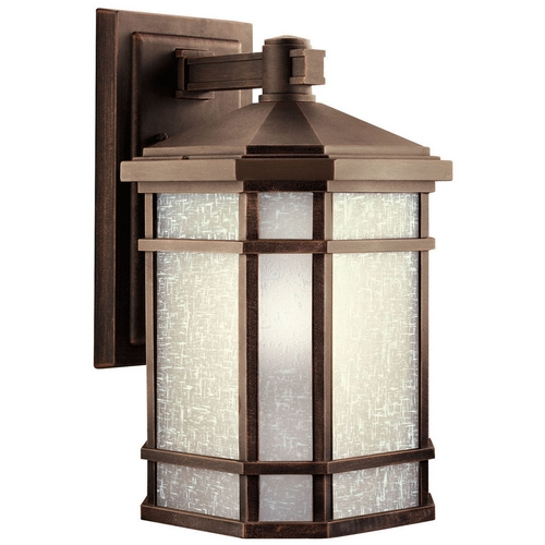 Kichler Lighting Kichler Outdoor Wall Light with White Glass in Prairie Rock Finish 11019PR