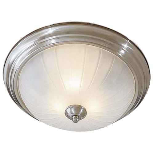 Minka Lighting Flushmount Light with White Glass in Brushed Nickel Finish 829-84