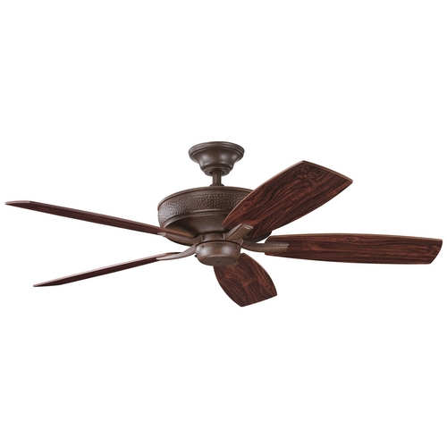Kichler Lighting Kichler Ceiling Fan Without Light in Tannery Bronze Finish 339013TZ