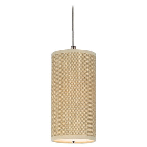 ET2 Lighting Modern Mini-Pendant Light with Brown Shade E95030-101SN