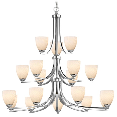 Design Classics Lighting Chrome Chandelier 5863-26 GL1020MB