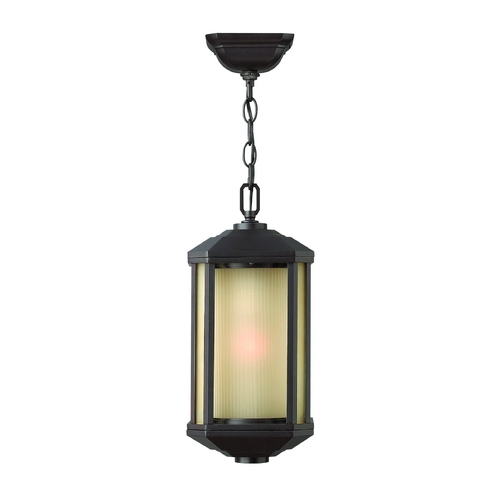Hinkley Lighting Outdoor Hanging Light with Amber Glass in Bronze Finish 1392BZ