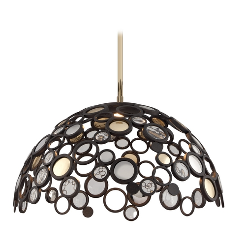 Corbett Lighting Corbett Lighting Bronze Pendant Light with Bowl Shade 188-45