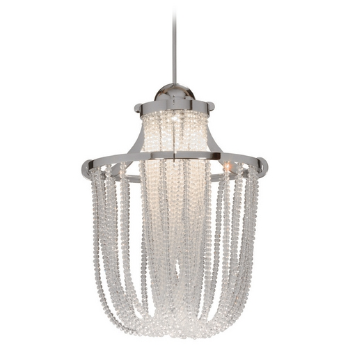 WAC Lighting Wac Lighting Crystal Collection Brushed Nickel LED Mini-Pendant MP-LED332-CL/BN