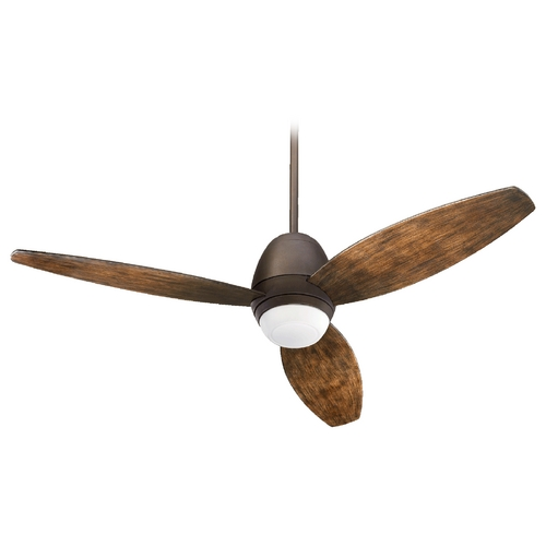 Quorum Lighting Quorum Lighting Bronx Patio Oiled Bronze Outdoor Ceiling Fan w/Light 142523-86