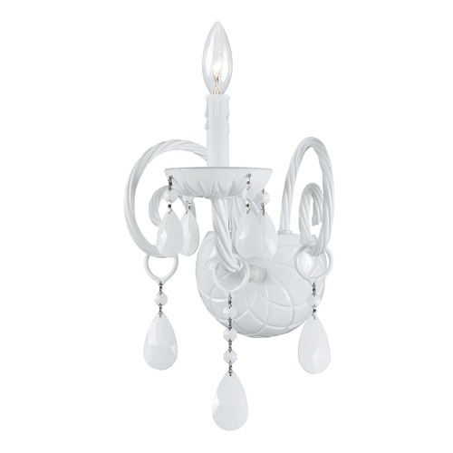 Crystorama Lighting Crystorama Lighting Envogue Wet White Sconce 1071-WW-WH-MWP