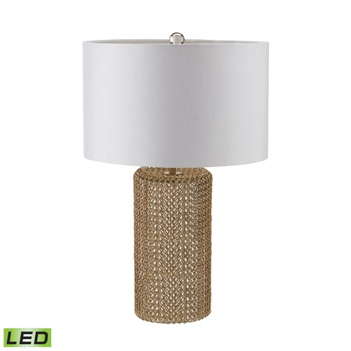 Dimond Lighting Dimond Lighting Gold LED Table Lamp with Drum Shade 983-008-LED