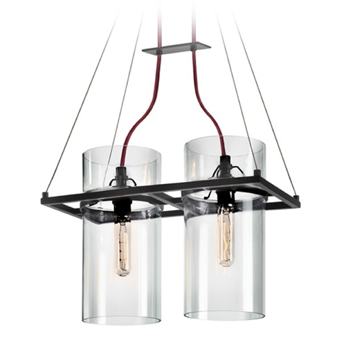 Sonneman Lighting Sonneman Square Ring Satin Black 2 Light Pendant Light 4762.25