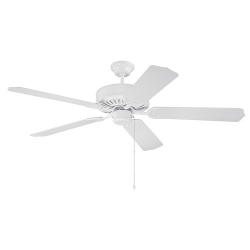 Craftmade Lighting Craftmade Pro Builder White Ceiling Fan Without Light K11081