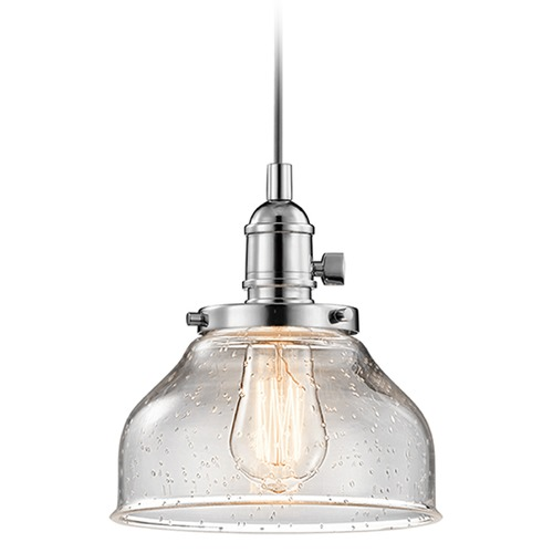 Kichler Lighting Kichler Lighting Avery Mini-Pendant Light with Bowl / Dome Shade 43850CH