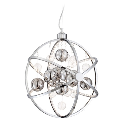 Lite Source Lighting Lite Source Marilyn Chrome LED Pendant Light LS-19577