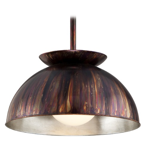 Troy Lighting Troy Lighting Library Copper Patina Exterior Pendant Light with Bowl / Dome Shade F5243