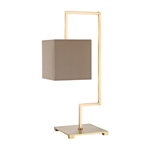 Dimond Lighting Dimond Ergo Antique Brass Table Lamp with Rectangle Shade D3119