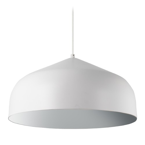 Kuzco Lighting Modern White and Silver LED Pendant 3000K 1549LM PD9117-WH/SV