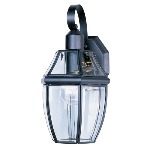 Maxim Lighting Outdoor Wall Light with Clear Glass in Black Finish 4011CLBK