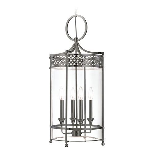 Hudson Valley Lighting Hudson Valley Lighting Amelia Antique Nickel Pendant Light with Cylindrical Shade 8994-AN