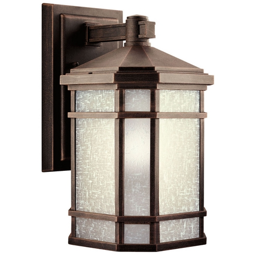 Kichler Lighting Kichler Outdoor Wall Light with White Glass in Prairie Rock Finish 11018PR