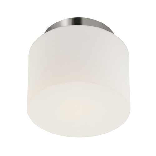 Sonneman Lighting Modern Flushmount Light with White Glass in Polished Nickel Finish 4157.35