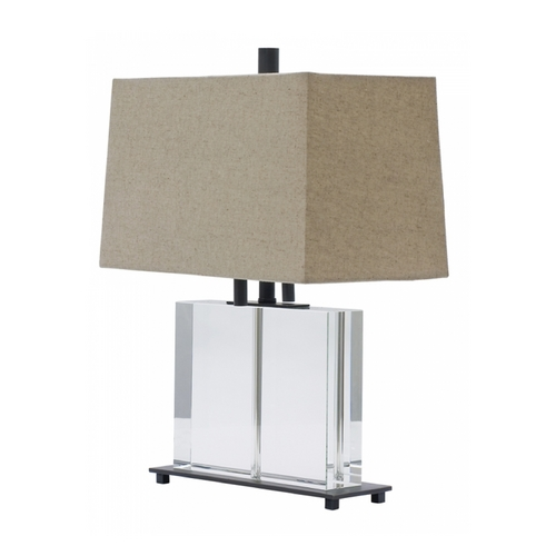 House of Troy Lighting Modern Table Lamp with Grey Shades in Oil Rubbed Bronze Finish M554-OB