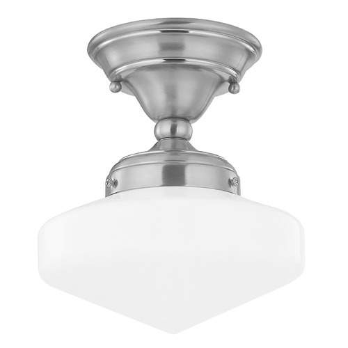 Design Classics Lighting 8-Inch Schoolhouse Semi-Flushmount Ceiling Light FAS-09 / GE8