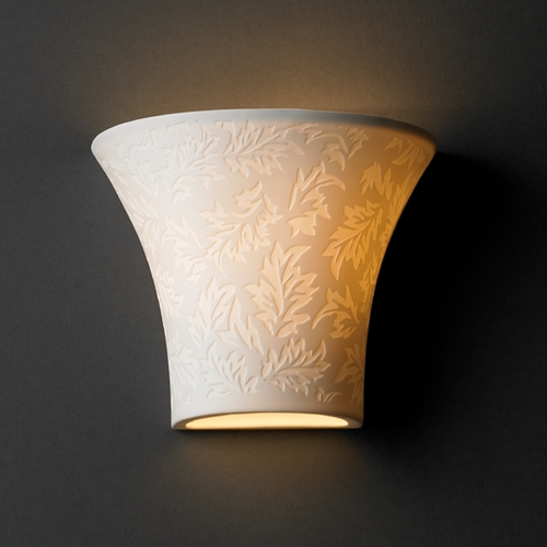 Justice Design Group Justice Design Group Limoges Collection Sconce POR-8810-LEAF