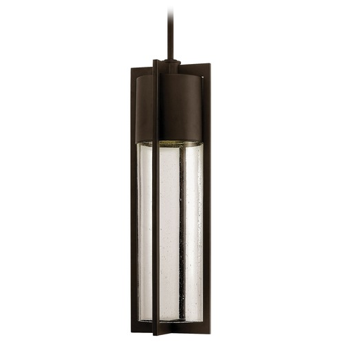 Hinkley Seeded Glass Outdoor Hanging Light Bronze Hinkley 1322KZ