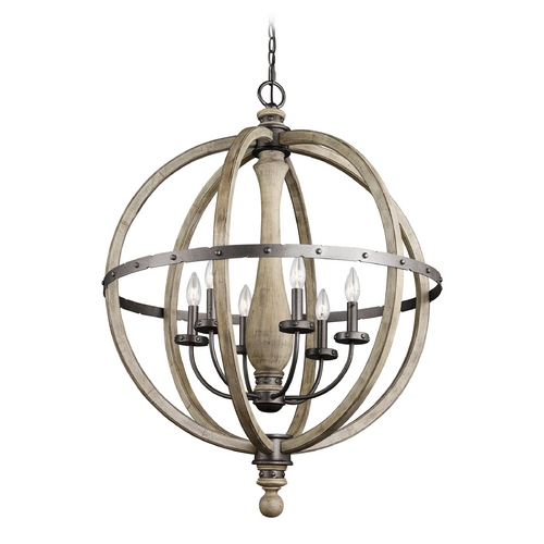 Kichler Lighting Kichler Lighting Evan Distressed Antique Gray Pendant Light 43327DAG
