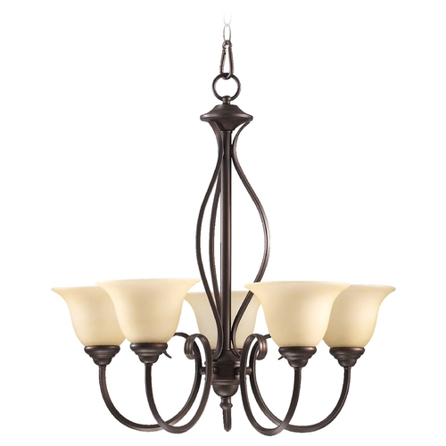 Quorum Lighting Quorum Lighting Spencer Oiled Bronze Chandelier 6010-5-86