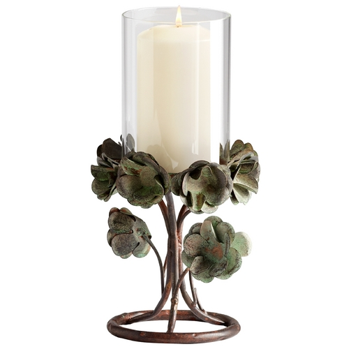 Cyan Design Cyan Design Leigh Green Rose Bronze Patina Candle Holder 05323