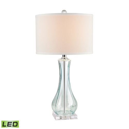 Dimond Lighting Dimond Lighting Translucent Light Green LED Table Lamp with Drum Shade D2627-LED