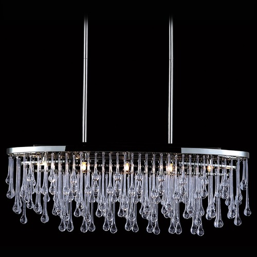 Avenue Lighting Avenue Lighting Hollywood Blvd. Polish Nickel / Clear Glass Tear Drops Chandelier HF1806-PN