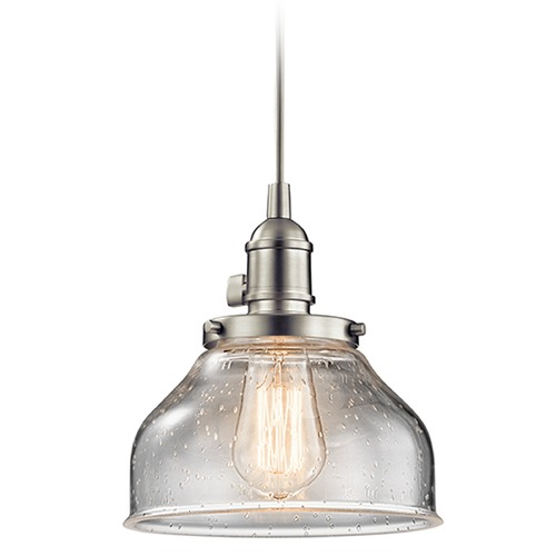 Kichler Lighting Kichler Lighting Avery Mini-Pendant Light with Bowl / Dome Shade 43850NI