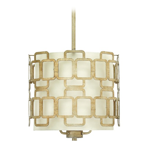 Hinkley Lighting Hinkley Lighting Sabina Silver Leaf Pendant Light with Cylindrical Shade 4913SL