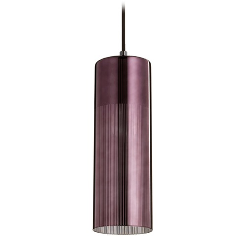 Quorum Lighting Quorum Lighting Gunmetal Mini-Pendant Light with Cylindrical Shade 838-1311