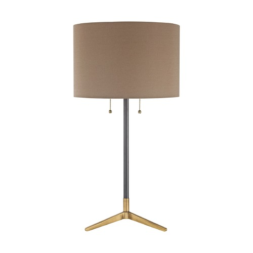 Elk Lighting Mid-Century Modern Table Lamp Black, Antique Brass Clubhouse by Dimond Lighting D3120