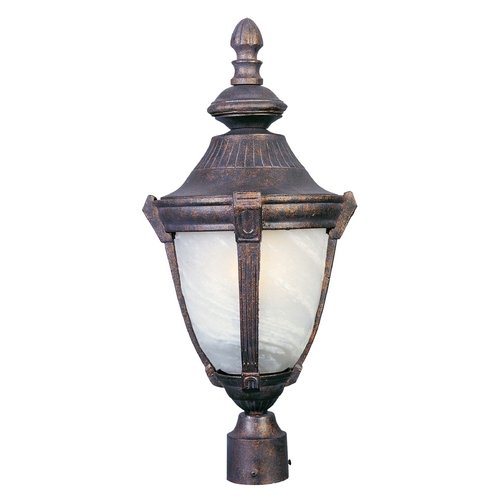 Maxim Lighting Post Light with White Glass in Empire Bronze Finish 4030MREB