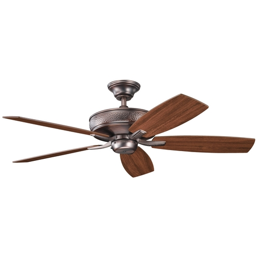 Kichler Lighting Kichler Ceiling Fan Without Light in Oil Brushed Bronze Finish 339013OBB