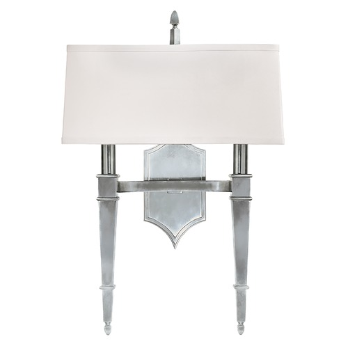 Hudson Valley Lighting Sconce Wall Light with White Shades in Polished Nickel Finish 742-PN