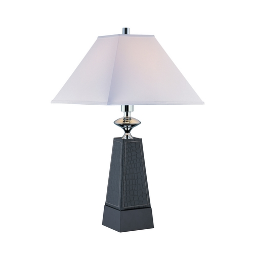 Lite Source Lighting Lite Source Lighting Cameron Leather Table Lamp with Square Shade LS-21575