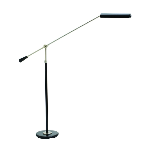 House of Troy Lighting LED Swing Arm Lamp in Black & Satin Nickel Finish PFLED-527