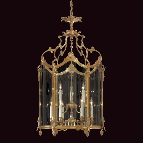 Metropolitan Lighting Pendant Light with Clear Glass in French Gold Finish N2334